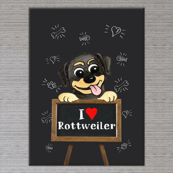 Rottweiler Vászonkép - 50x40 cm