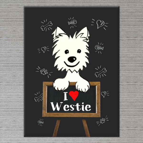 Westie Kutya Vászonkép - 50x40 cm