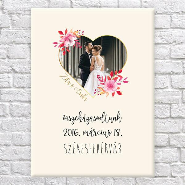 Esküvős Vászonkép - 50x40 cm