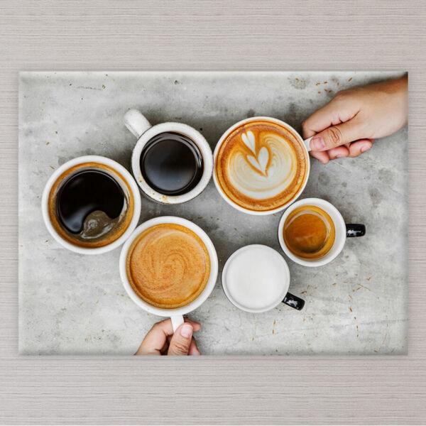 Kávécsészés Vászonkép - 50x40 cm