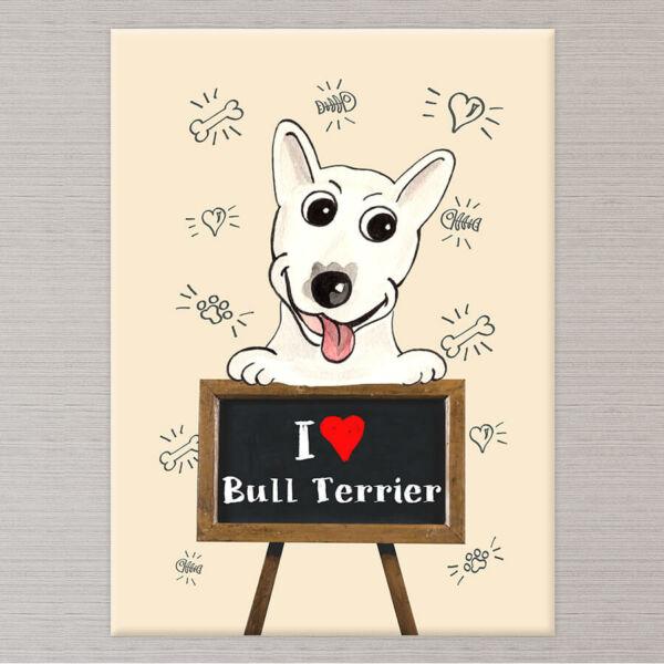 Kutyás Falikép Bull Terrier - 50x40 cm