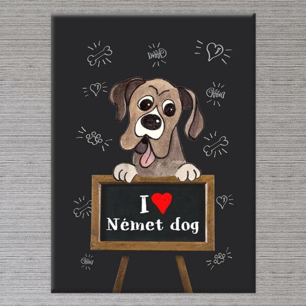 Kutyás Falikép Német Dog - 50x40 cm