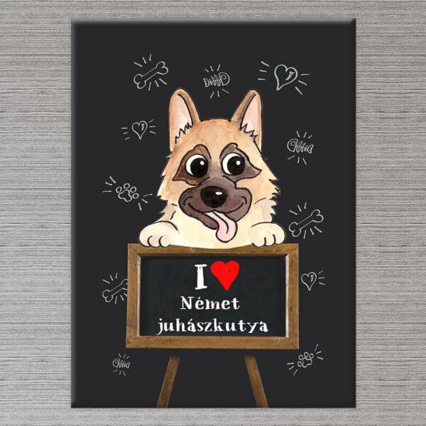 Kutyás Falikép Német Juhászkutya - 50x40 cm