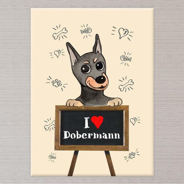 Kutyás Vászonkép Dobermann - 50x40 cm