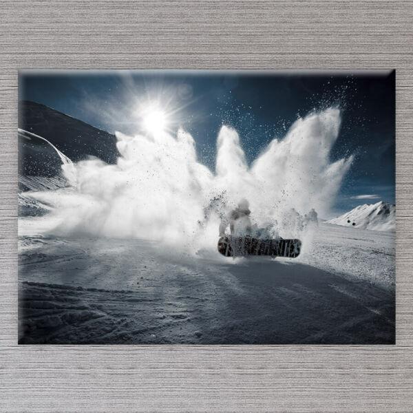 Snowbordos Vászonkép - 50x40 cm