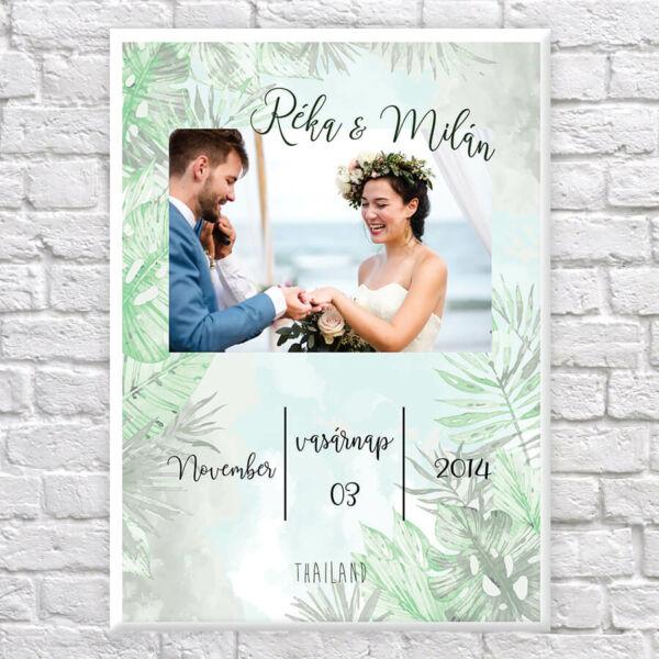 Vászonkép Esküvős Fotó - 50x40 cm