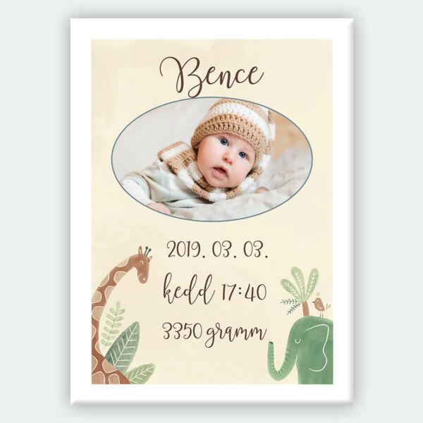 Vászonkép Kis Baba Születés Gyerekszobába - 50x40 cm