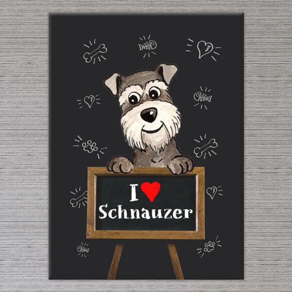 Schnauzer kutya vászonkép