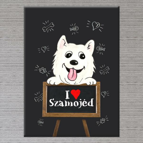 Szamojed kutya vászonkép