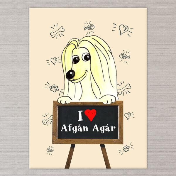 afgan agar kutya vászonkép