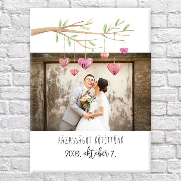 esküvős vászonkép