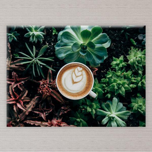 kávécsesze vászonkép konyhába
