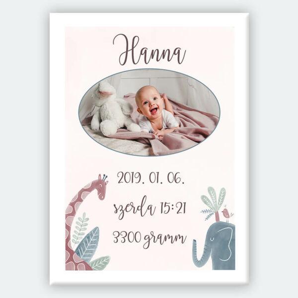 kis baba születés vászonkép gyerekszobába