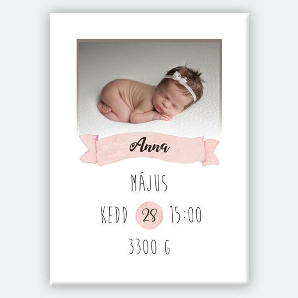 kis babás vászonkép gyerekszobába