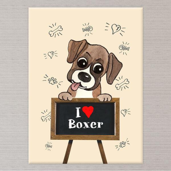 kutyás falikép boxer