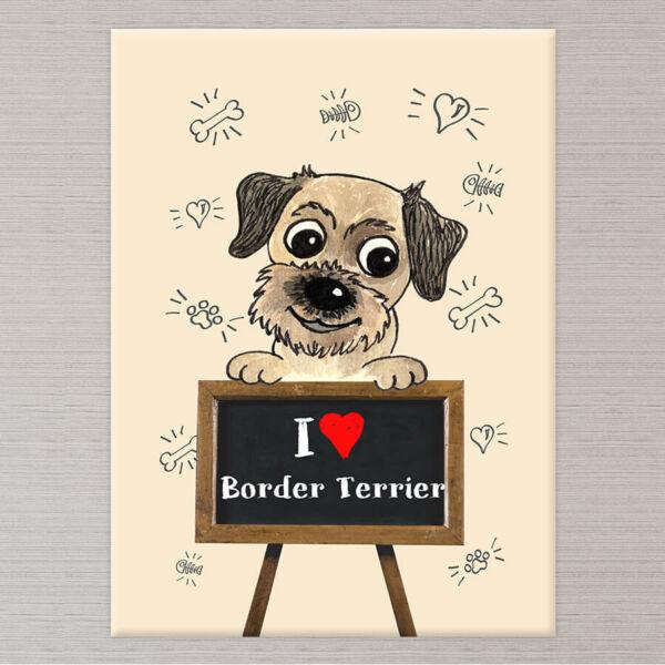 kutyás vászonkép border terrier