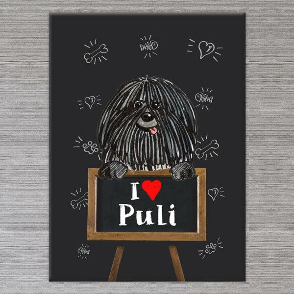 puli kutyás vászonkép