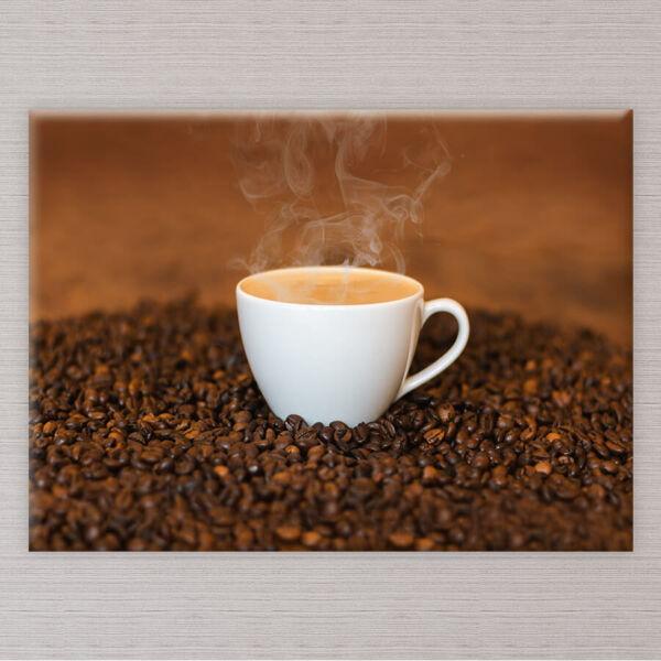 vászonkép csésze kávé