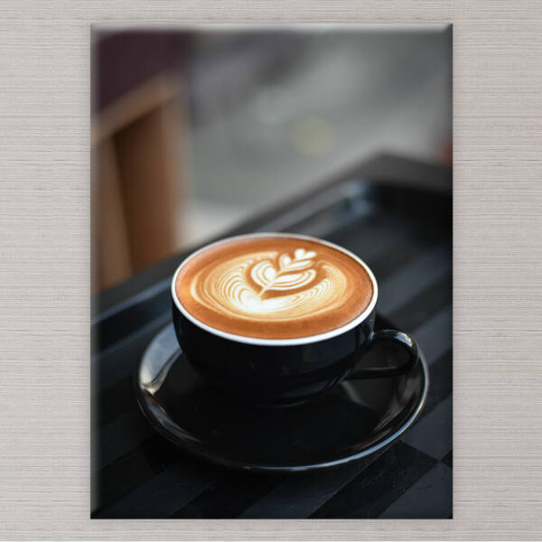 vászonkép csésze kávé konyhába