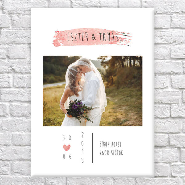 vászonkép esküvős fotó