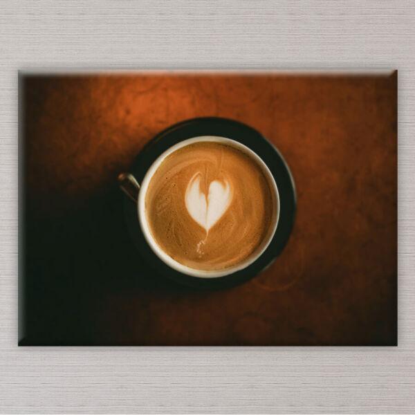 vászonkép kávécsésze konyhába