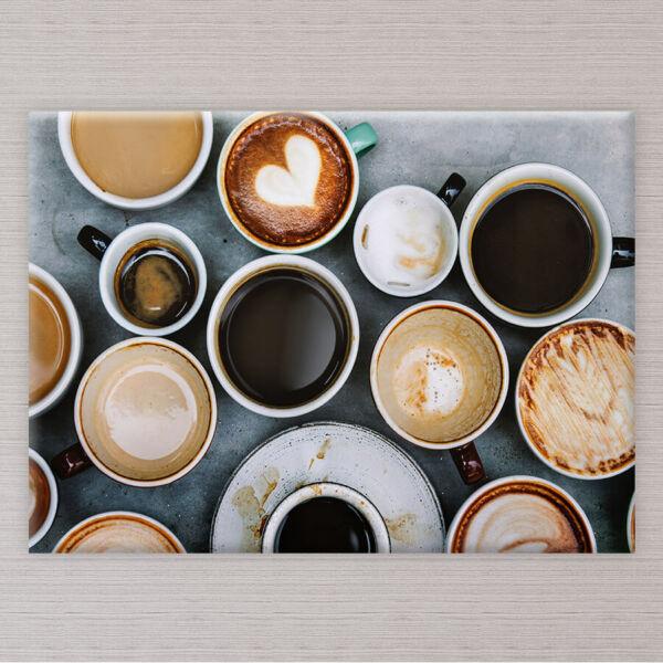 vászonkép kávés csészék konyhába