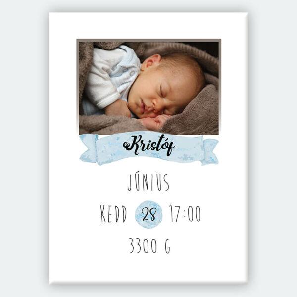 vászonkép kis baba születés gyerekszobába