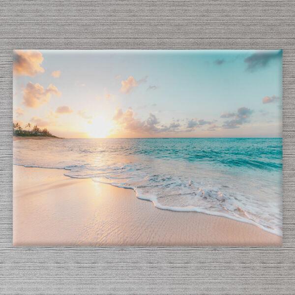 vászonkép tengerpart naplemente